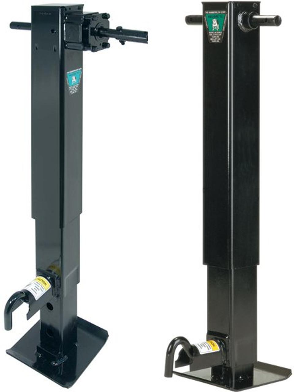 183817-17 --- BULLDOG Two Speed Drop Leg Trailer Jack with Companion Jack - 20,000 lb