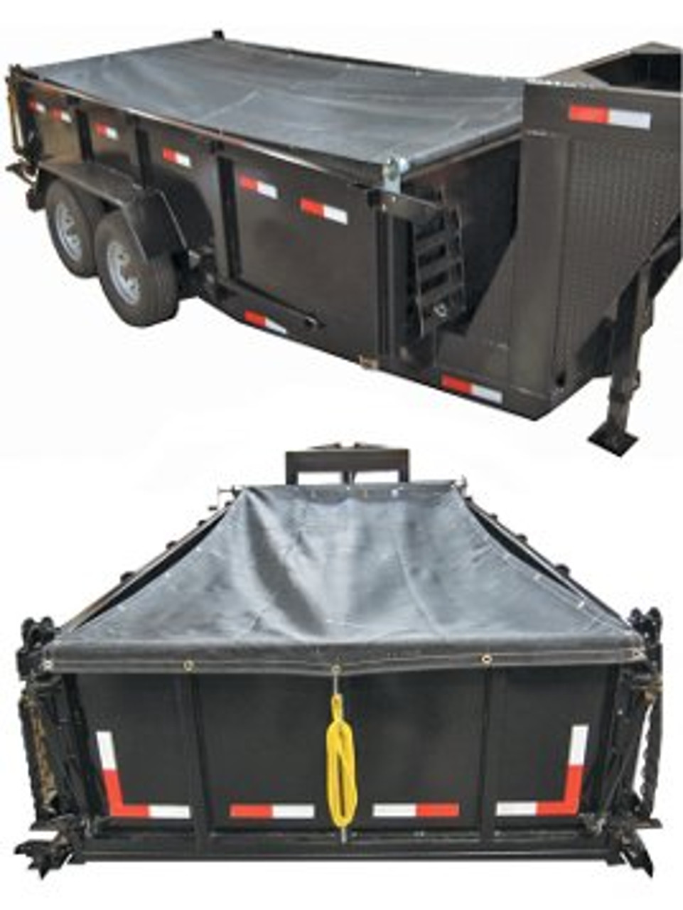 DTTK12 --- 6-1/2' x 15' Dump Trailer Tarp Kit