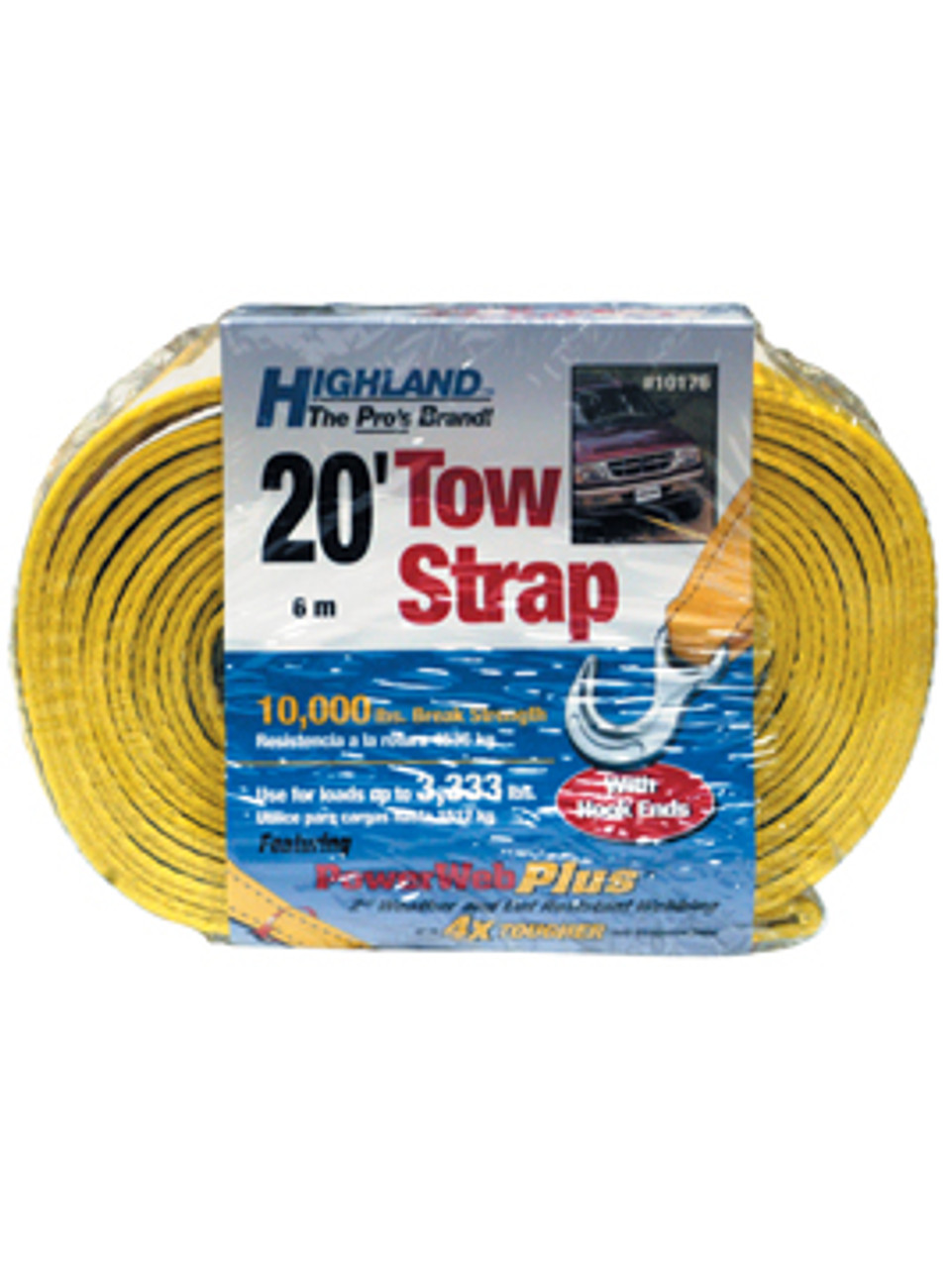 1017600 --- Highland Tow Strap with Hook Ends