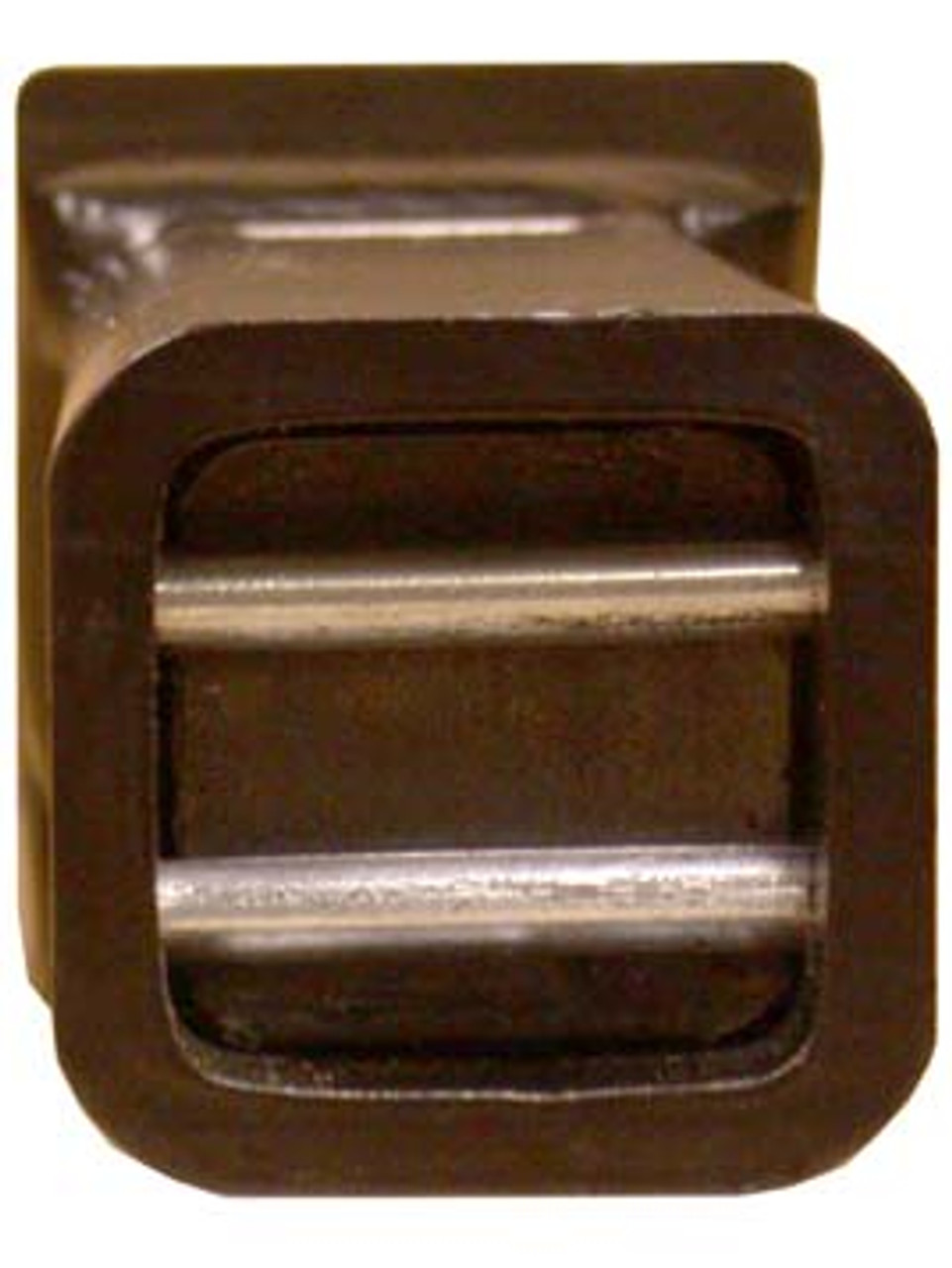 """C6990 --- Cushioned 2"""" Receiver Mounted Pintle Hook Adapter - 10 Holes - 10,000 lb Capacity"""