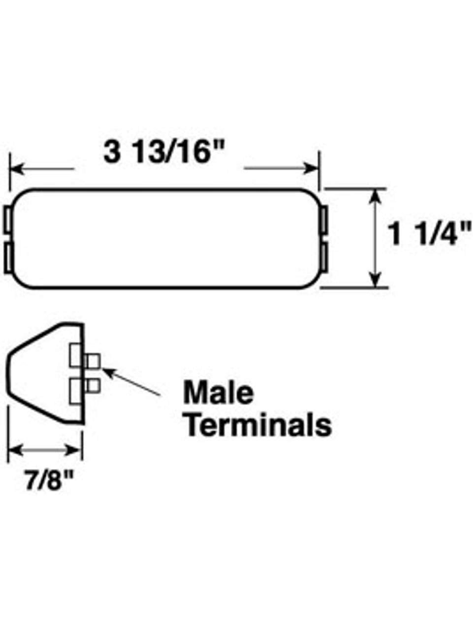 154C --- Rectangular Sealed License Plate/Utility Light
