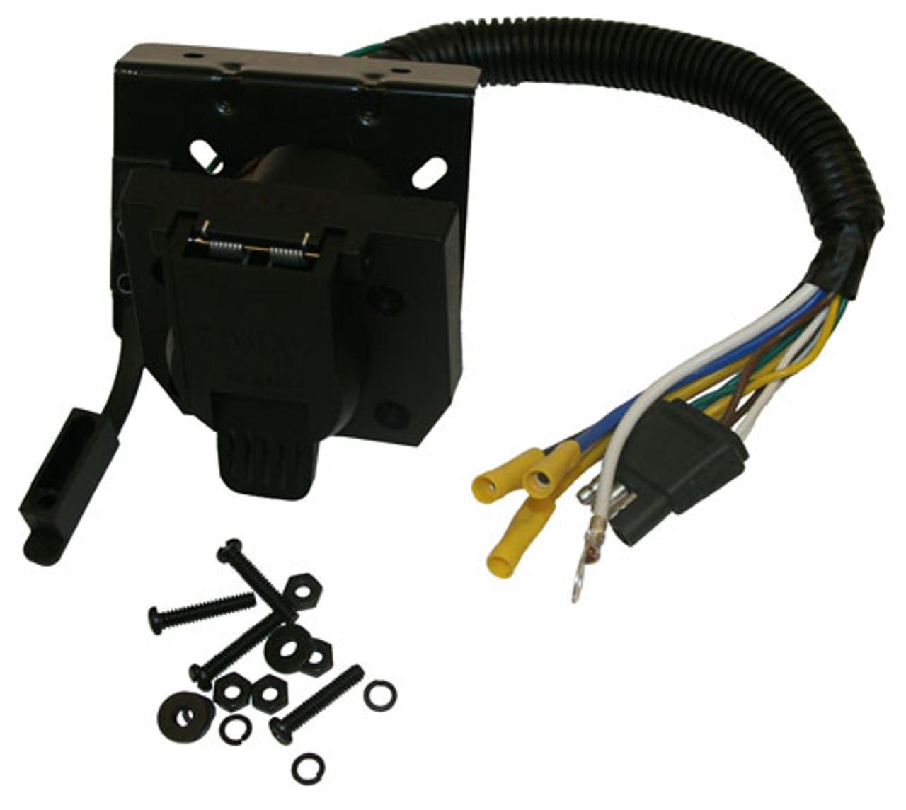 37185 --- 4-Prong Flat to 4-Prong Flat and 7-Way Flat Pin Adapter