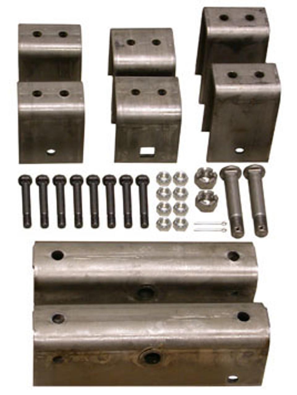 """HSHK2 --- Tandem Axle Hanger Kit for 2"""" Wide Slipper Spring Heavy Duty"""