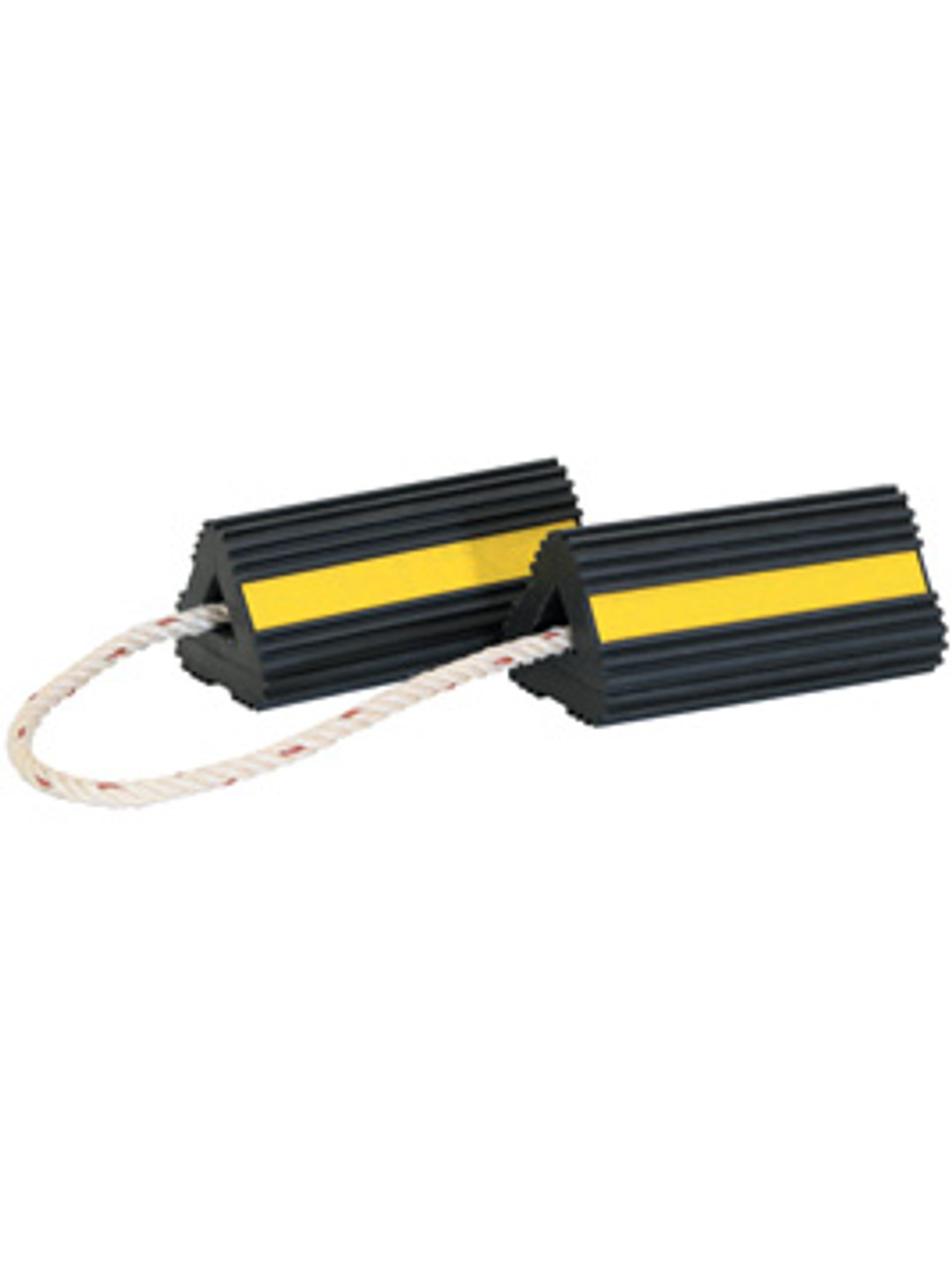 WC24483 --- Rubber Wheel Chocks with Rope