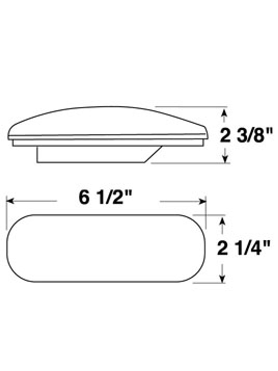 421R --- Oval Sealed Tail Light