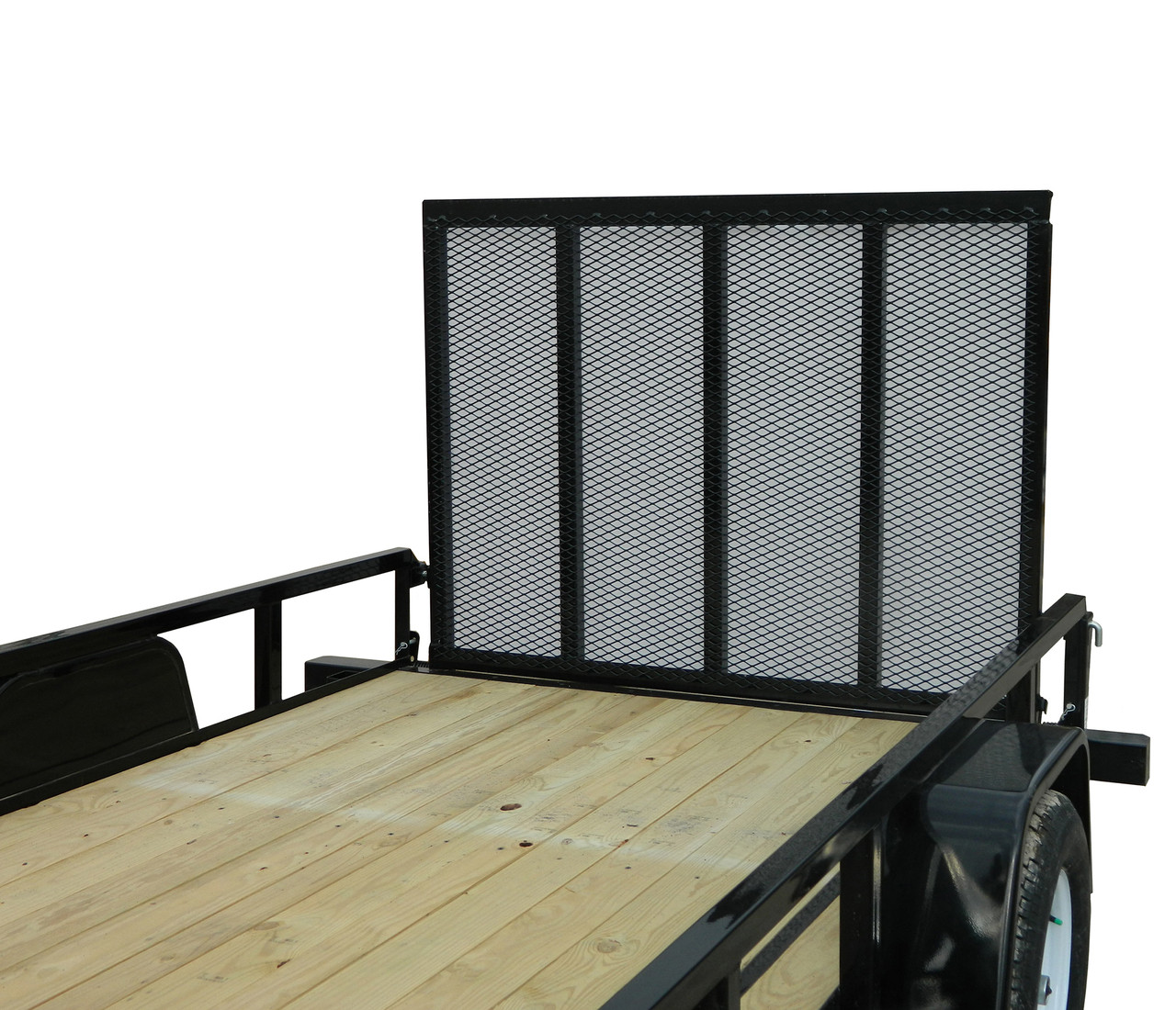 """STR5080G --- 5' x 8' Trailer with 11"""" Rails and Ramp Gate"""