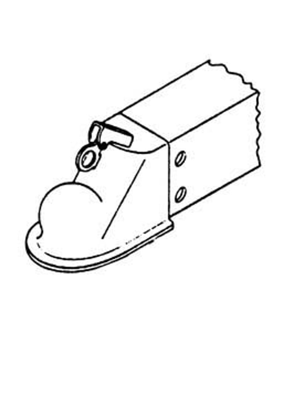 """40677 --- Model 6 Inner Slide w/2-5/16"""" Ball Coupler"""