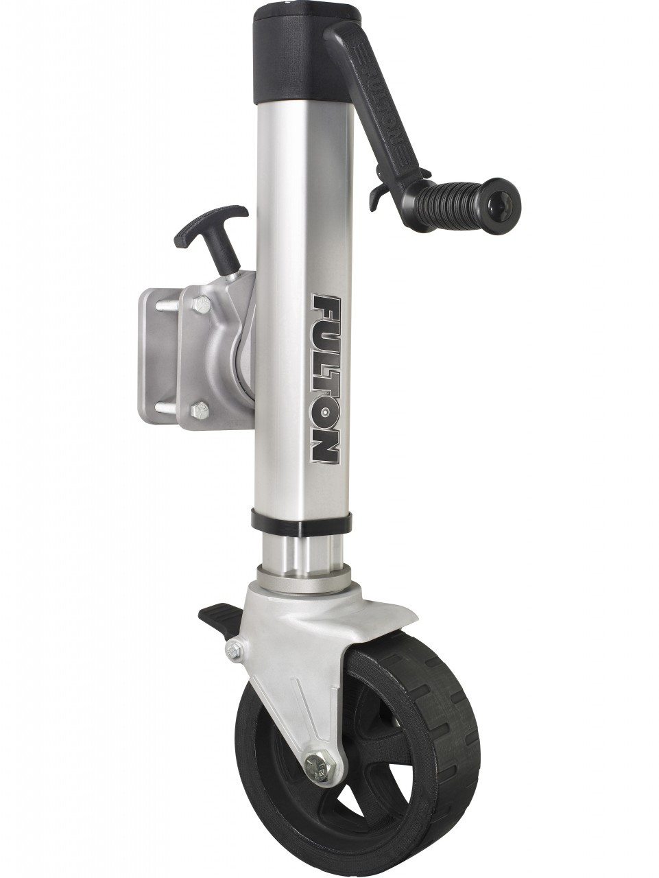 F21600WT45 --- Fulton Swivel Sidewind F2 Trailer Jack with Wide Track Caster - 1,600 lb