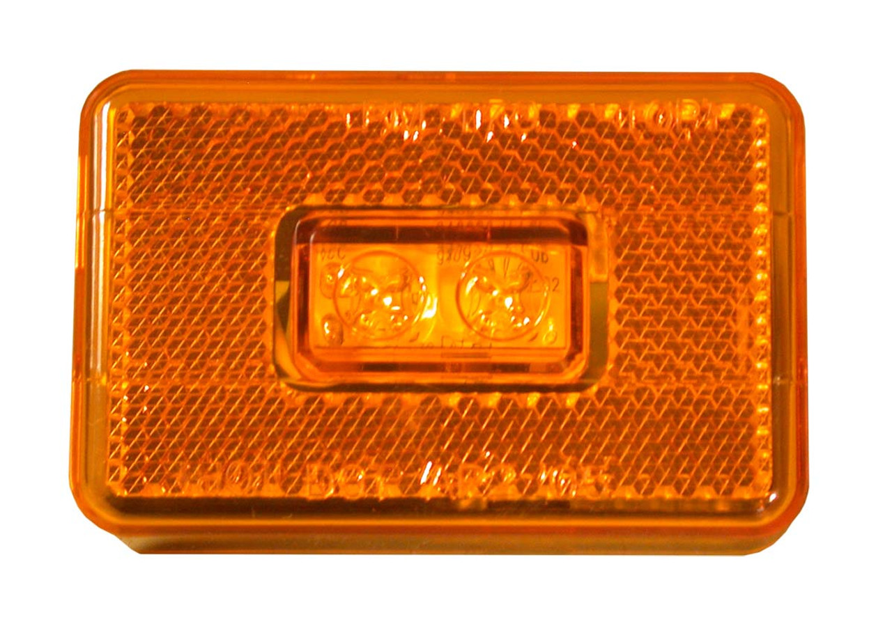 LED114A2 --- LED Rectangular Clearance/Side Marker Light with Reflex - 2 Diodes