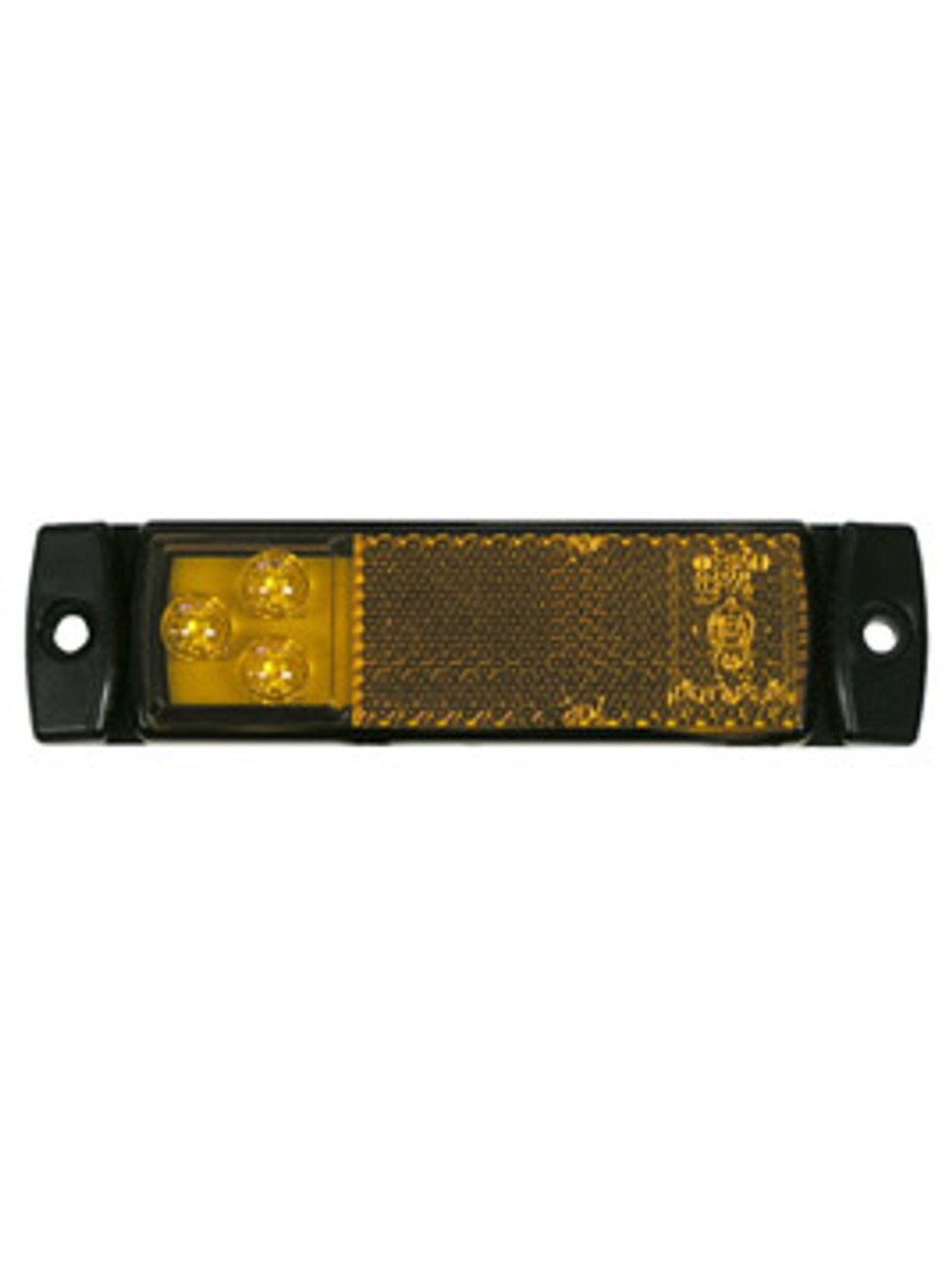 LED1203A3 --- Rectangular Sealed LED Clearance/Side Marker Light with Reflex - 3 Diodes