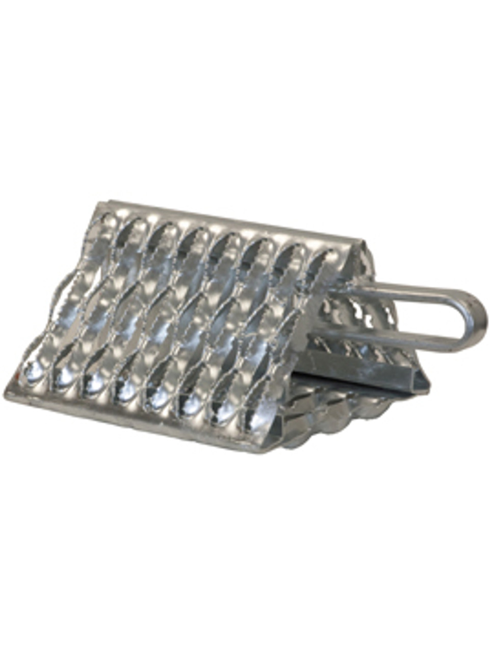 WC091060 --- Serrated Galvanized Wheel Chock