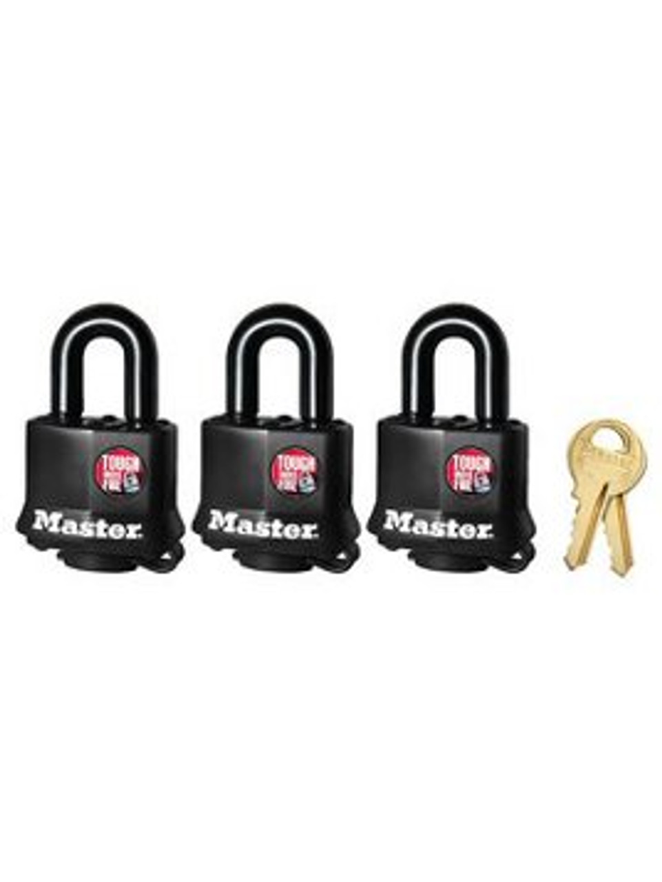 "ML311-3PK --- MasterLock™ 1-9/16"" wide Padlock - Three Pack Keyed Alike"