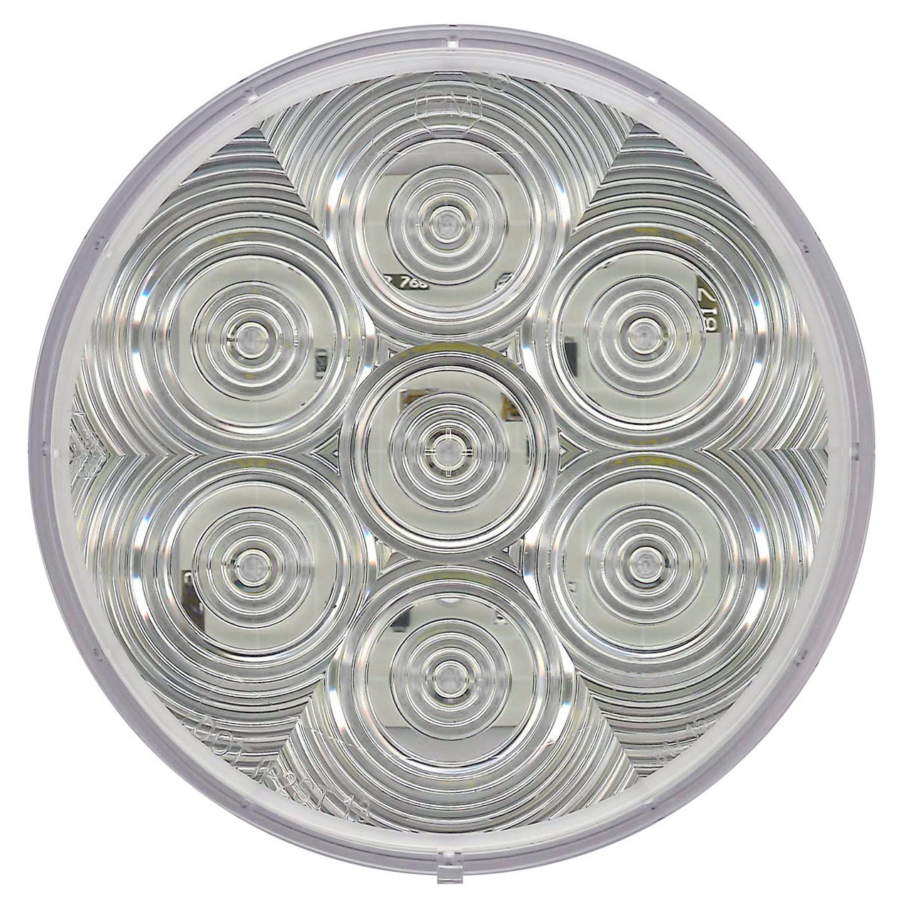 """LED415CBU7 --- LED Round 4"""" Back-Up DOT Light - 7 Diodes"""