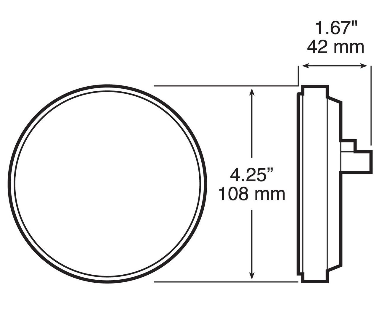 "LED415CBUK7 --- LED Round 4"" Back Up DOT Light Kit - 7 Diodes"