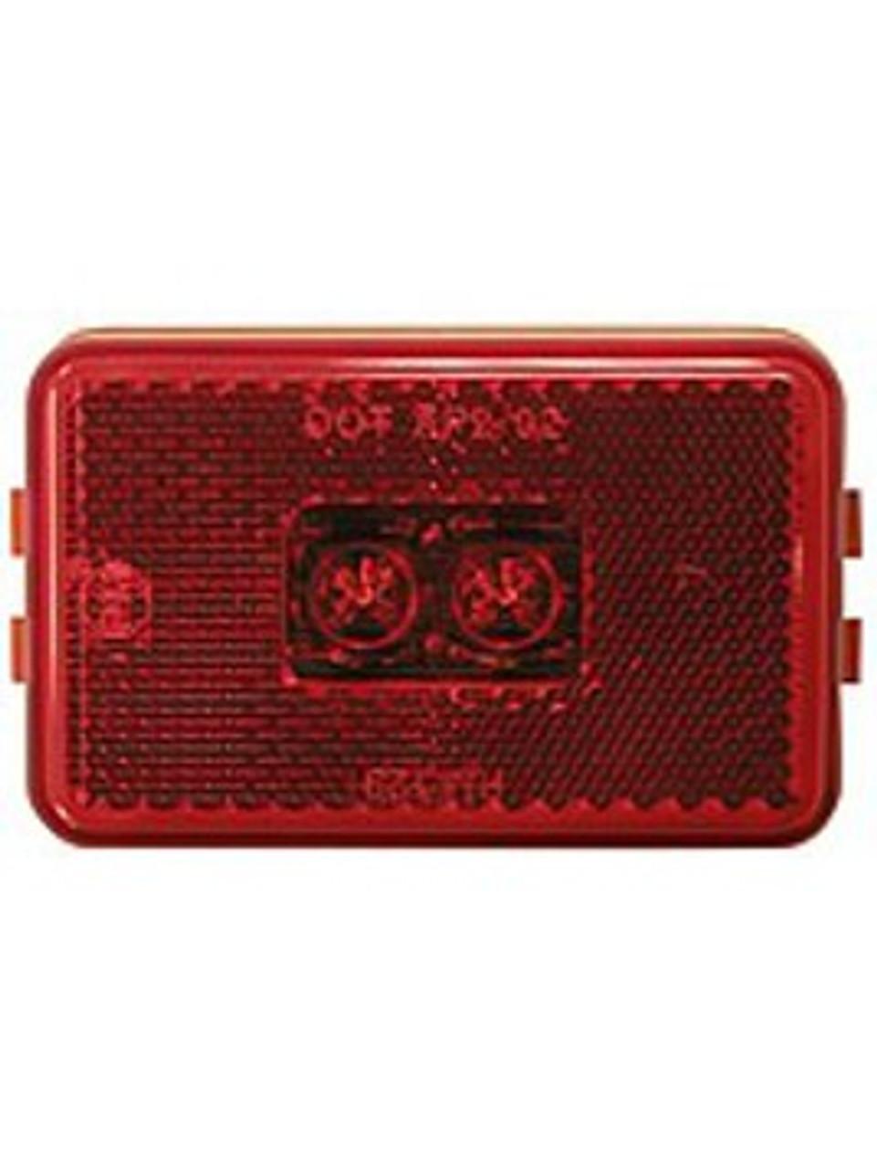LED129R2 --- LED Rectangular Sealed Clearance/Side Marker Light - Red