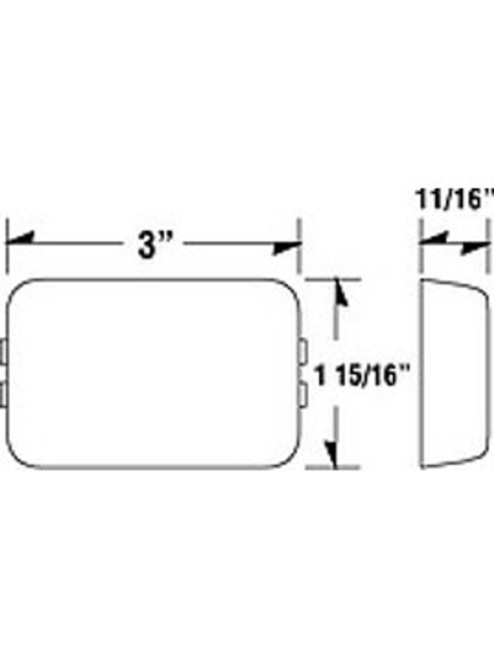 LED129KR2 --- LED Rectangular Sealed Clearance/Side Marker Light Kit - Red