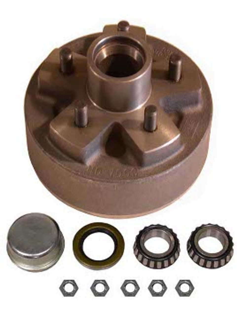 """1-BT5-49HDH --- 5 on 4-1/2"""" Hub Assembly for 7"""" Hydraulic Brakes"""