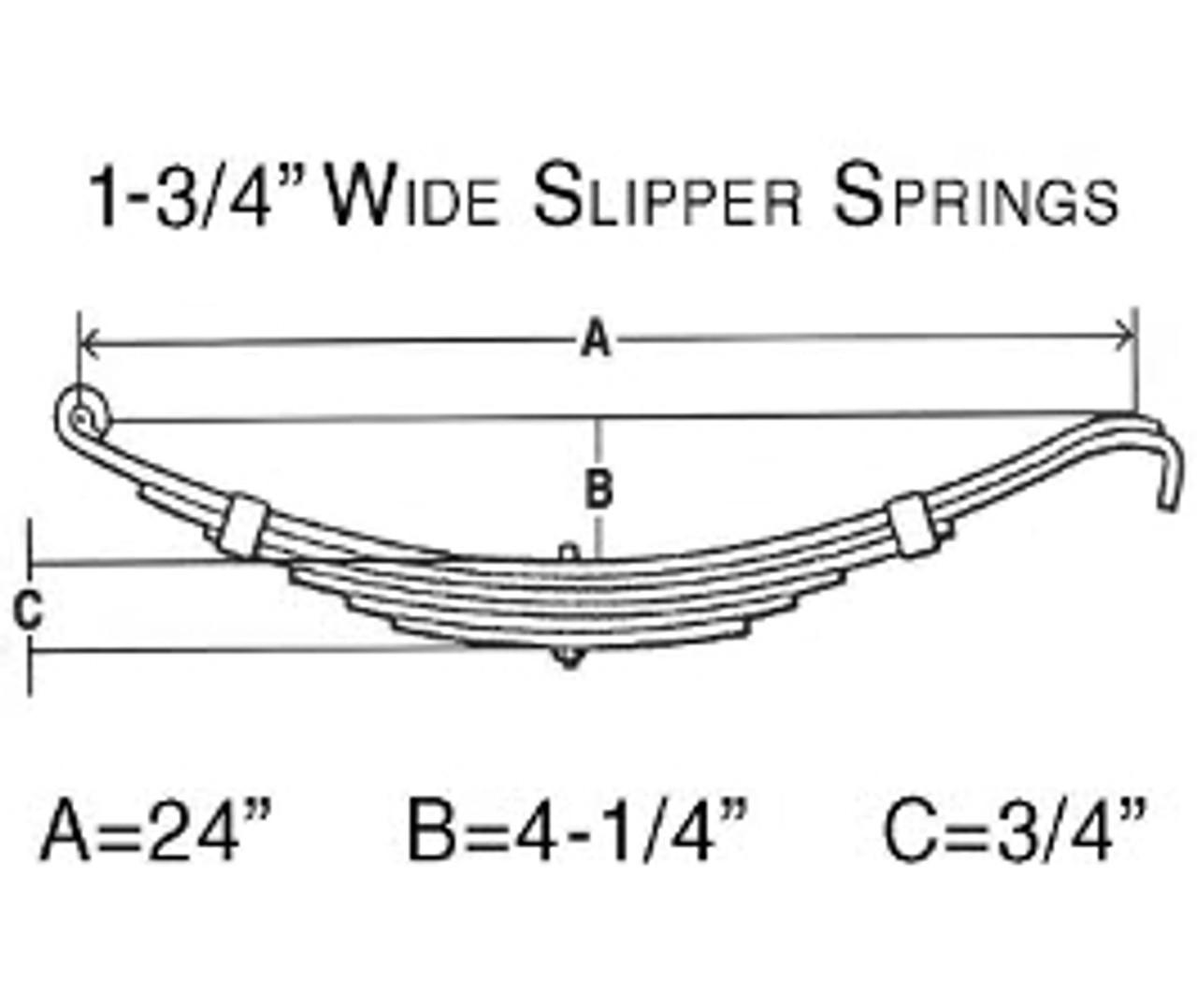 "BTS324 --- Leaf Spring - 1-3/4"" Wide Slipper Spring - 1.5k per pair"