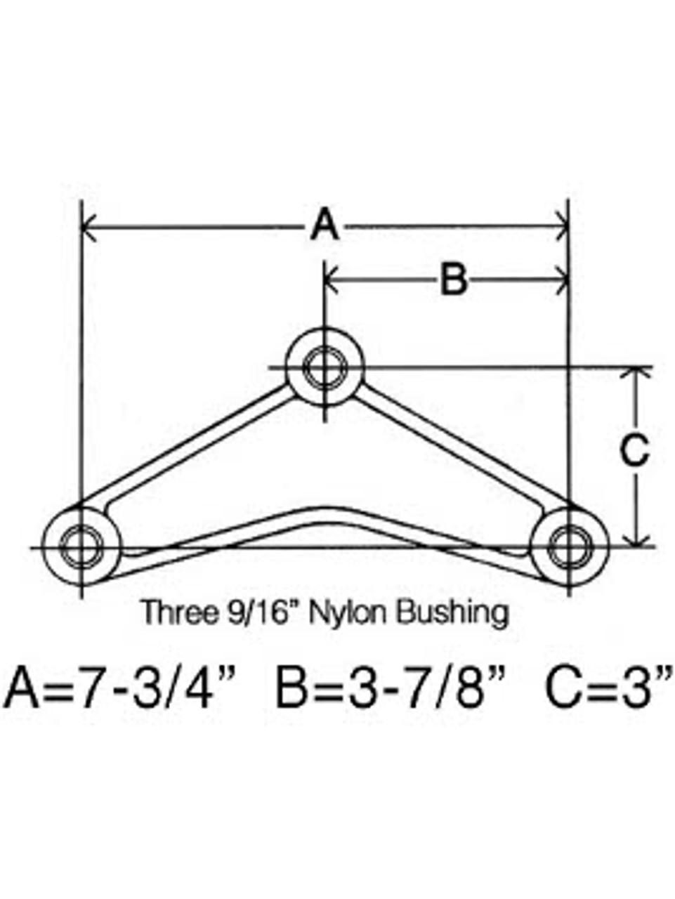 """CER916 --- Curved Tandem Equalizer for 1-3/4"""" Wide Double Eye Springs"""