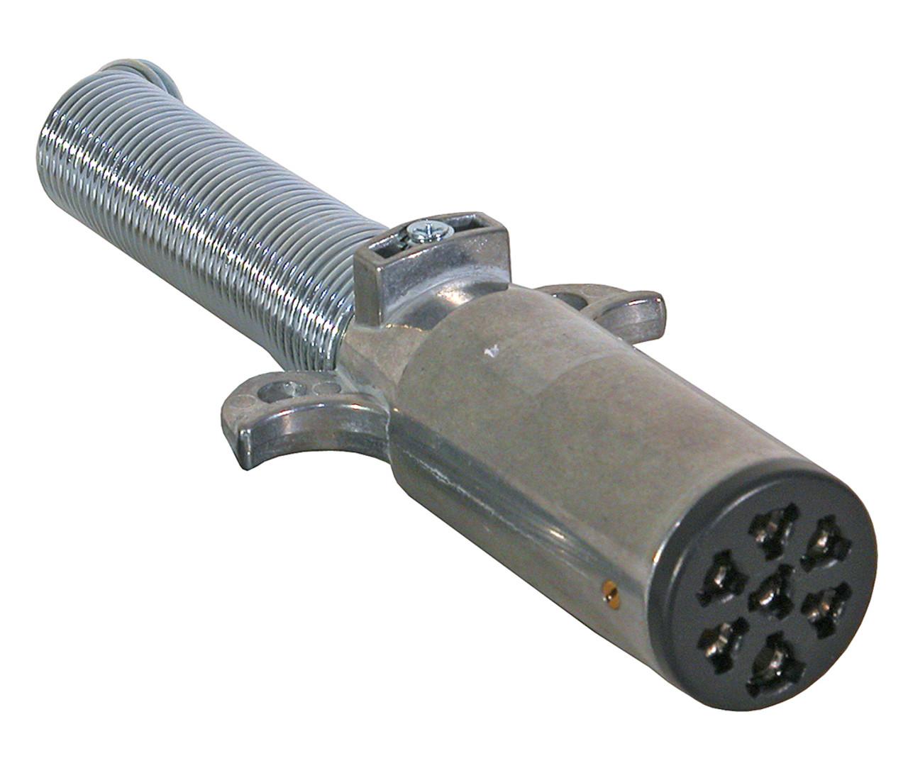 177P --- 7-Way Round with Round Pin Plug with Spring