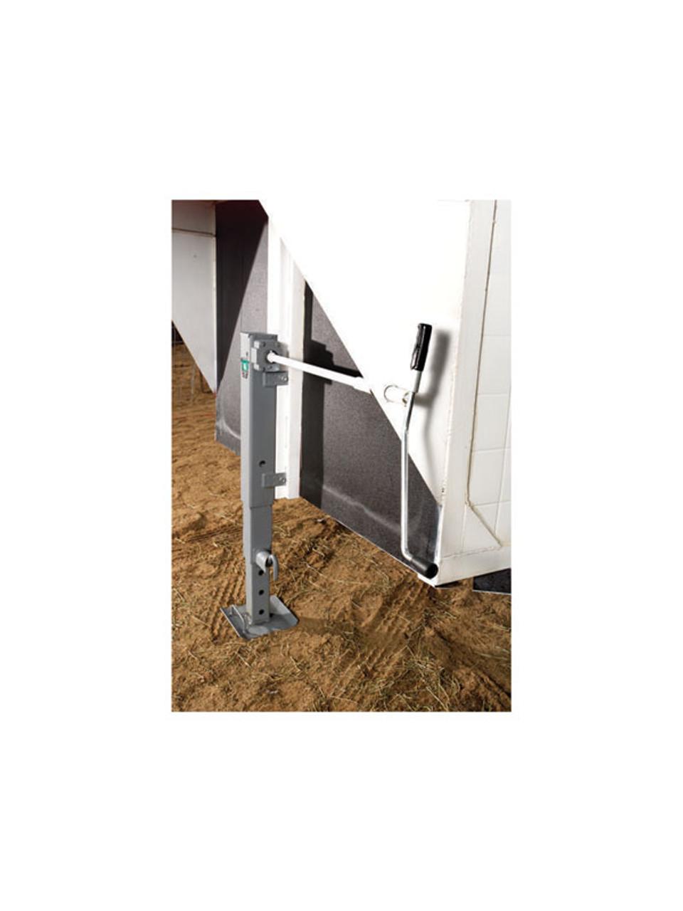183401 --- BULLDOG Two Speed Drop Leg Trailer Jack - Pin to Side - 10,000 lb