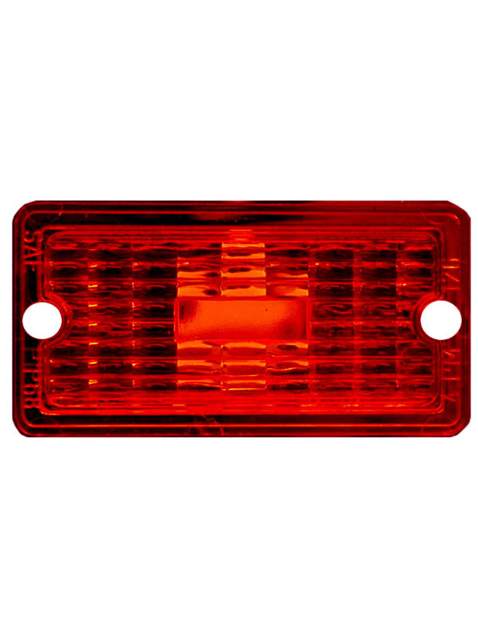 126-25R --- Peterson Replacement Red Rectangular Lens