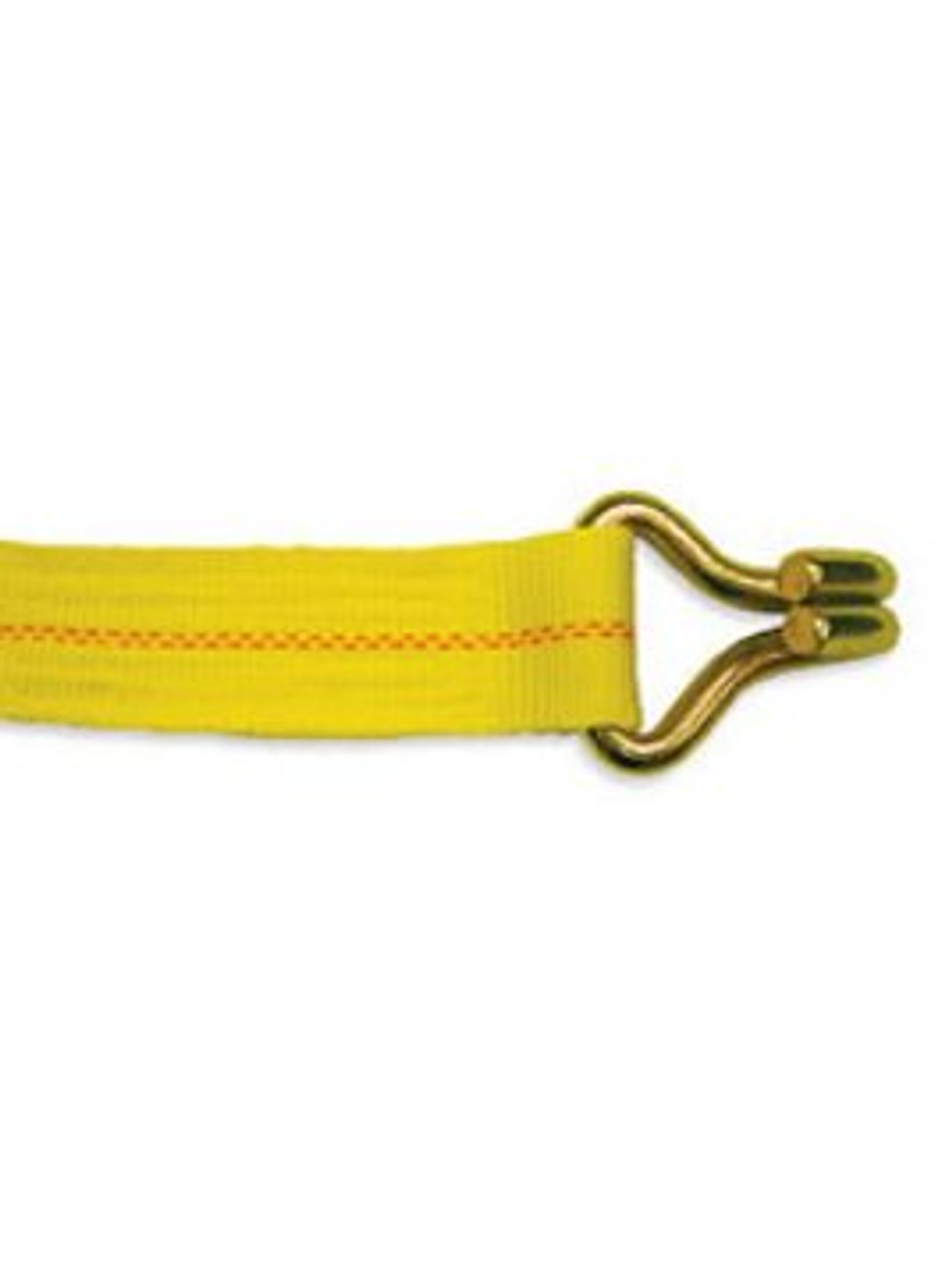 "WS230J-Y --- 2"" Cargo Winch Strap with ""J"" Hook"