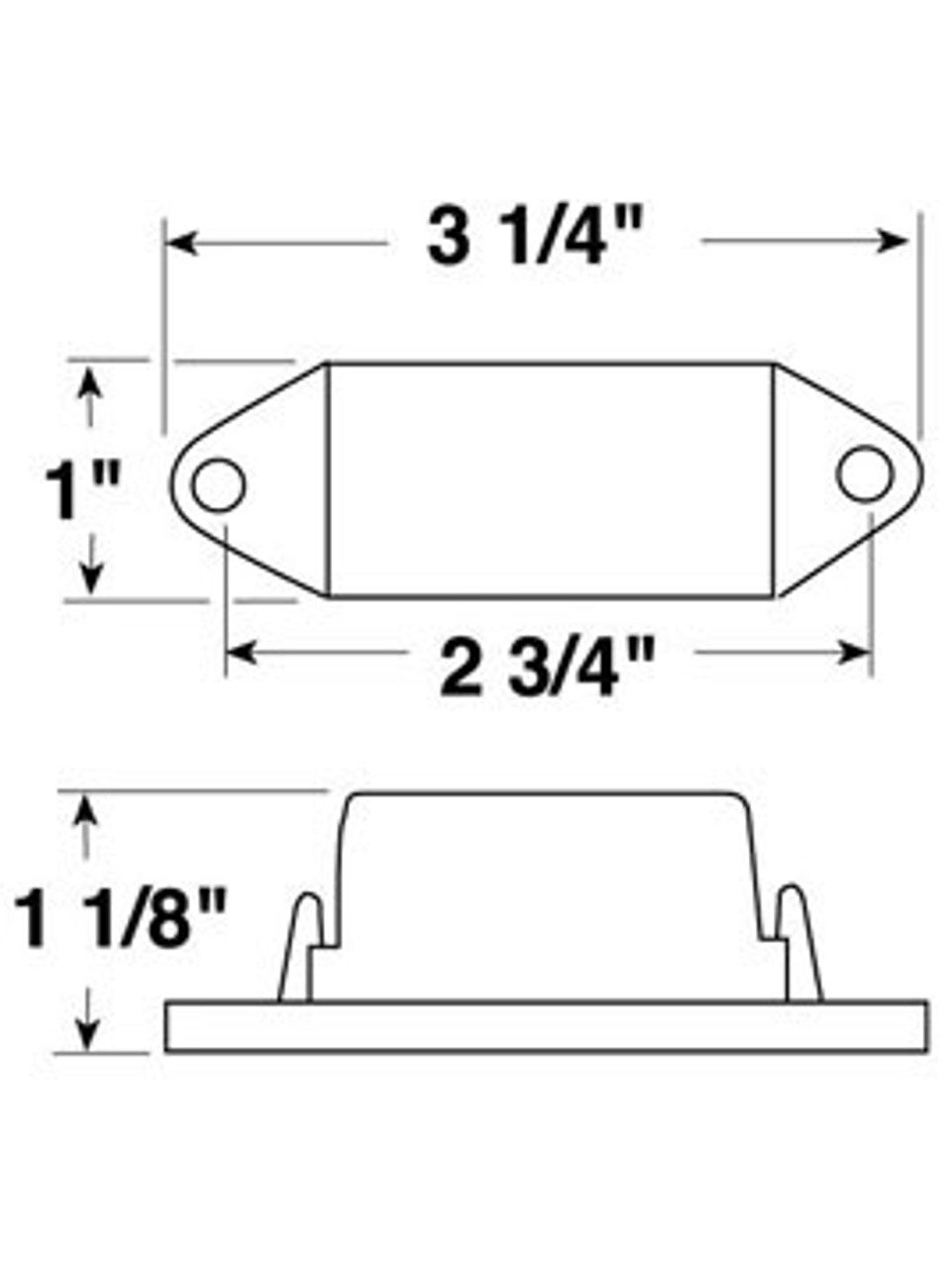 V107A --- Mini-Light Clearance/Side Marker Light