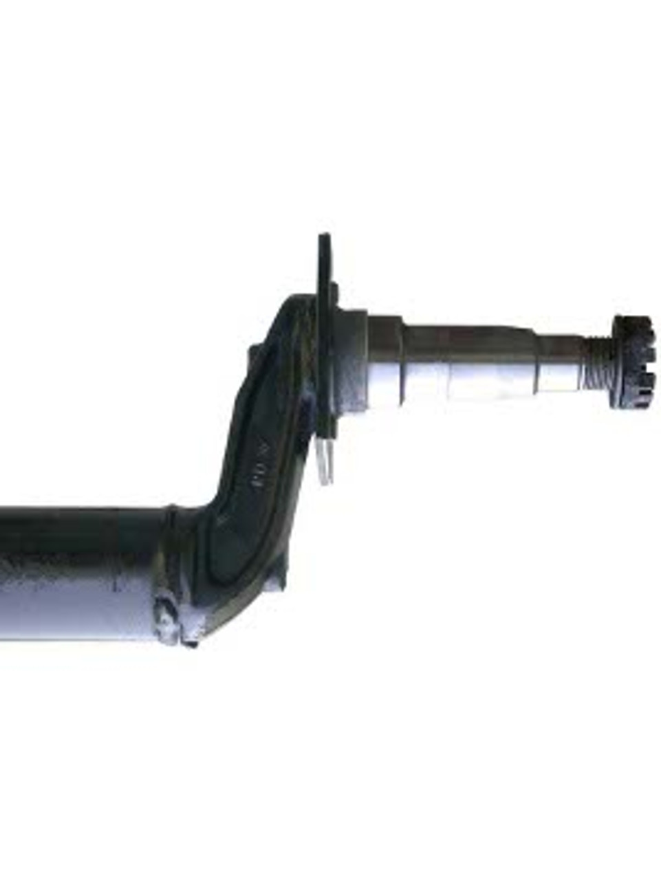"""DRT3587-84FC --- 2-3/8"""" Cambered Round Dexter Axle with 4"""" Drop - 3,500 lb Capacity - 87"""" Hub Face"""
