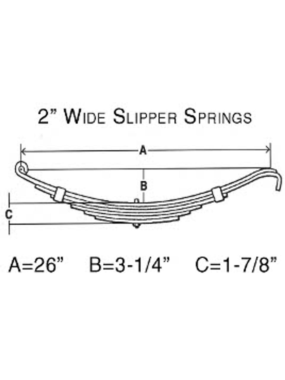 "E5226 --- Leaf Spring - 2"" Wide Slipper Spring - 6k per pair"