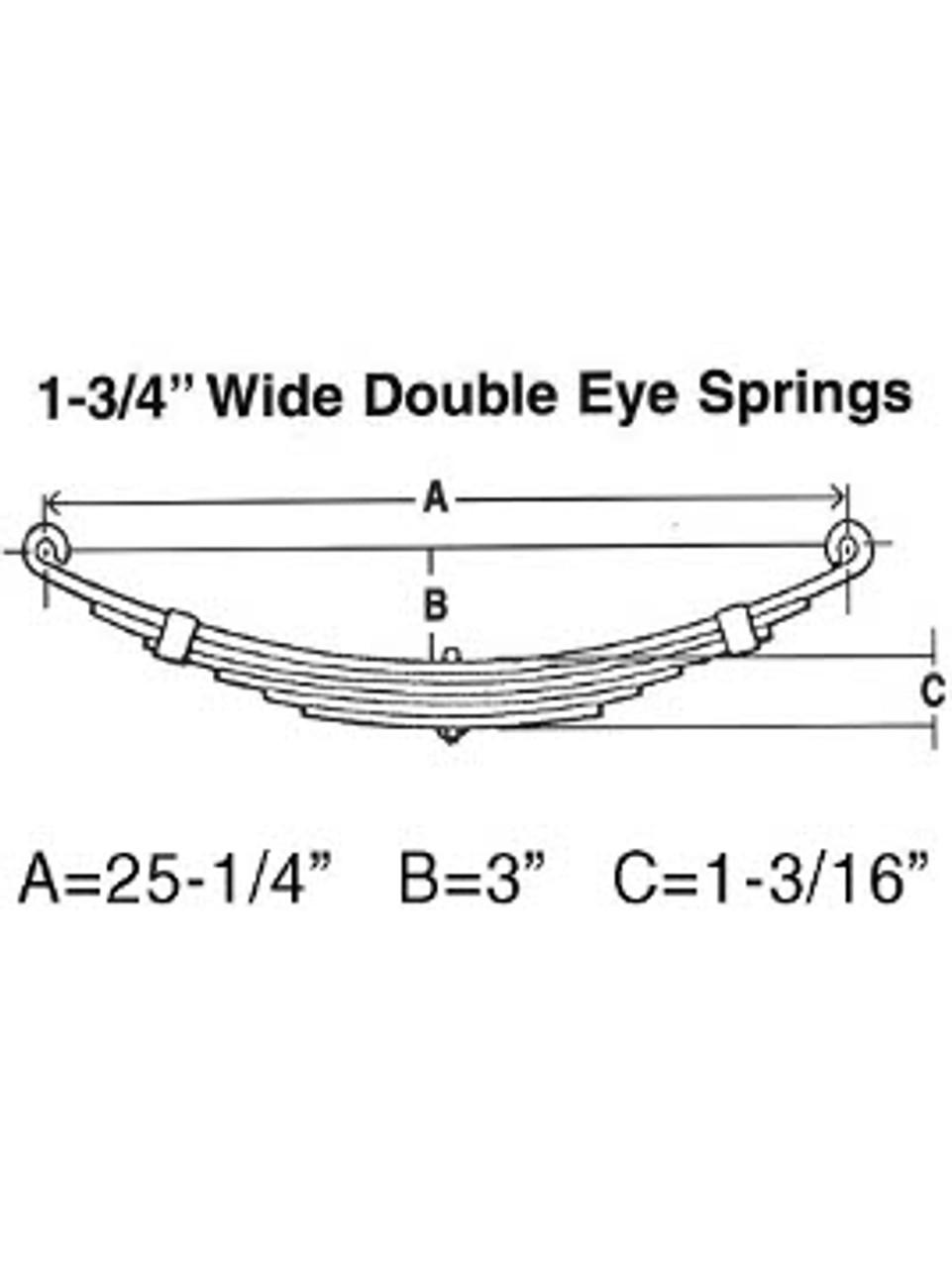 "SW3 --- Leaf Spring - 1-3/4"" Wide Double Eye - 3.6k per pair"