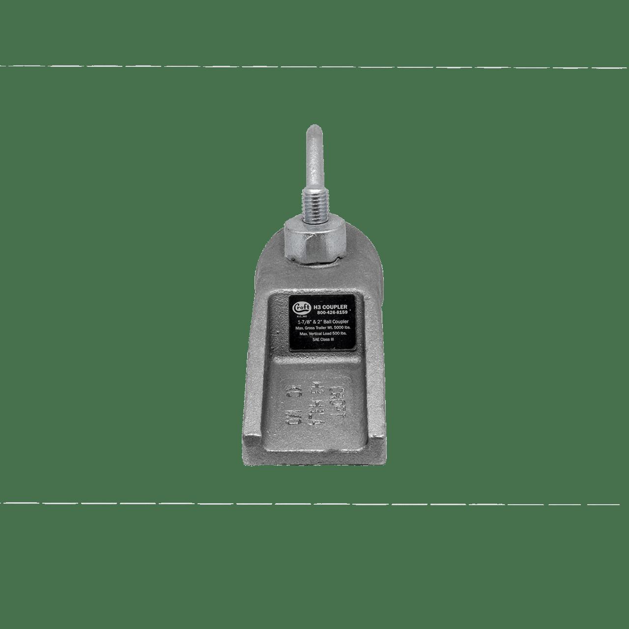 "H-3 --- CROFT Coupler with N-3 Loop Nut - 5,000 lb Capacity - 1-7/8 or 2"""