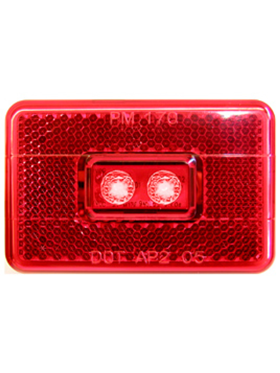 LED114R2 --- LED Rectangular Clearance/Side Marker Light with Reflex - 2 Diodes