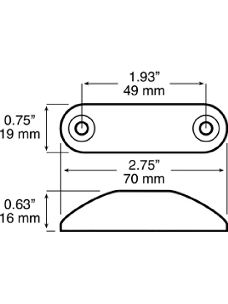 LED168A2 --- Peterson Piranha® Slim-Line Mini LED Clearance/Side Marker