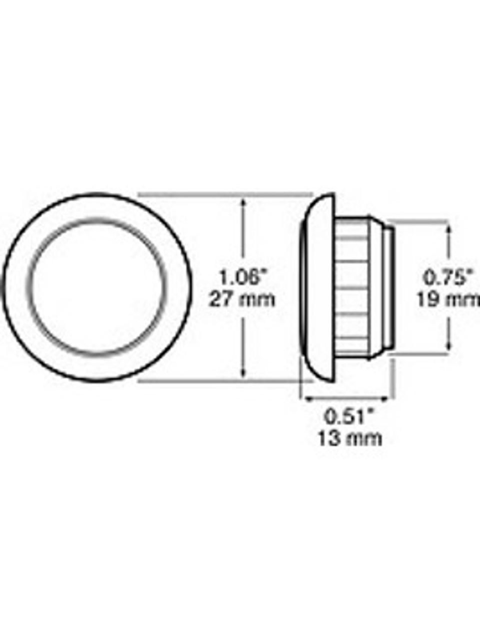 "LED171KA --- Amber 1"" Round Sealed LED Clearance/Side Marker Light Kit - 1 Diodes"