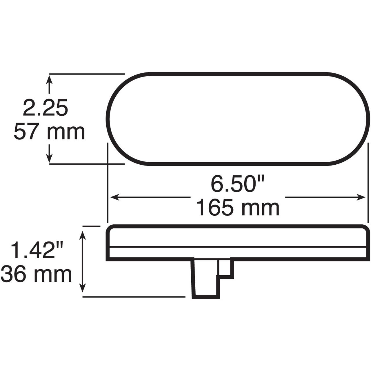 LED421KR7 --- Oval Sealed LED Tail Light Kit- 7 Diodes