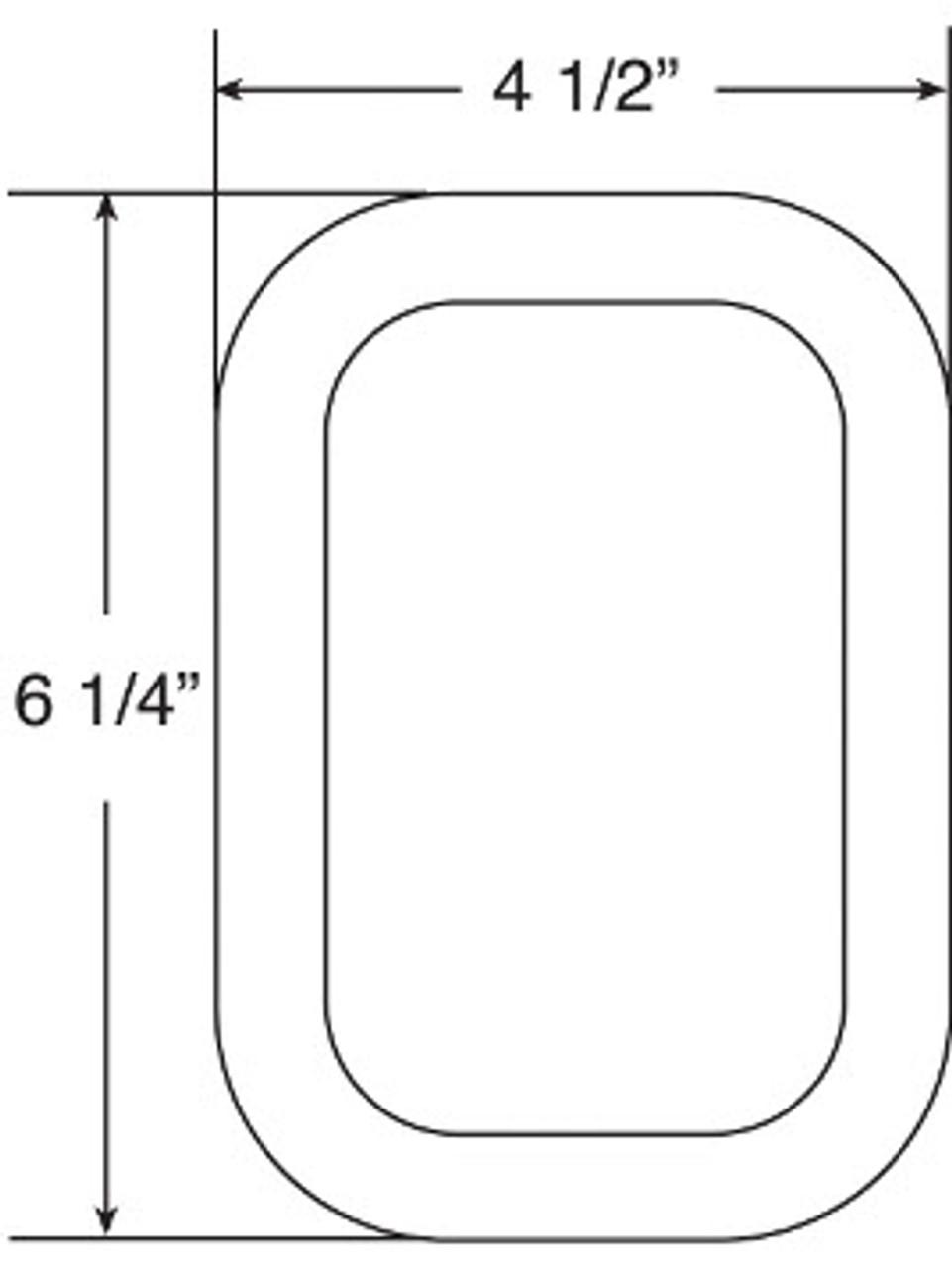 450-18 --- Peterson Rectangular Replacement Grommet