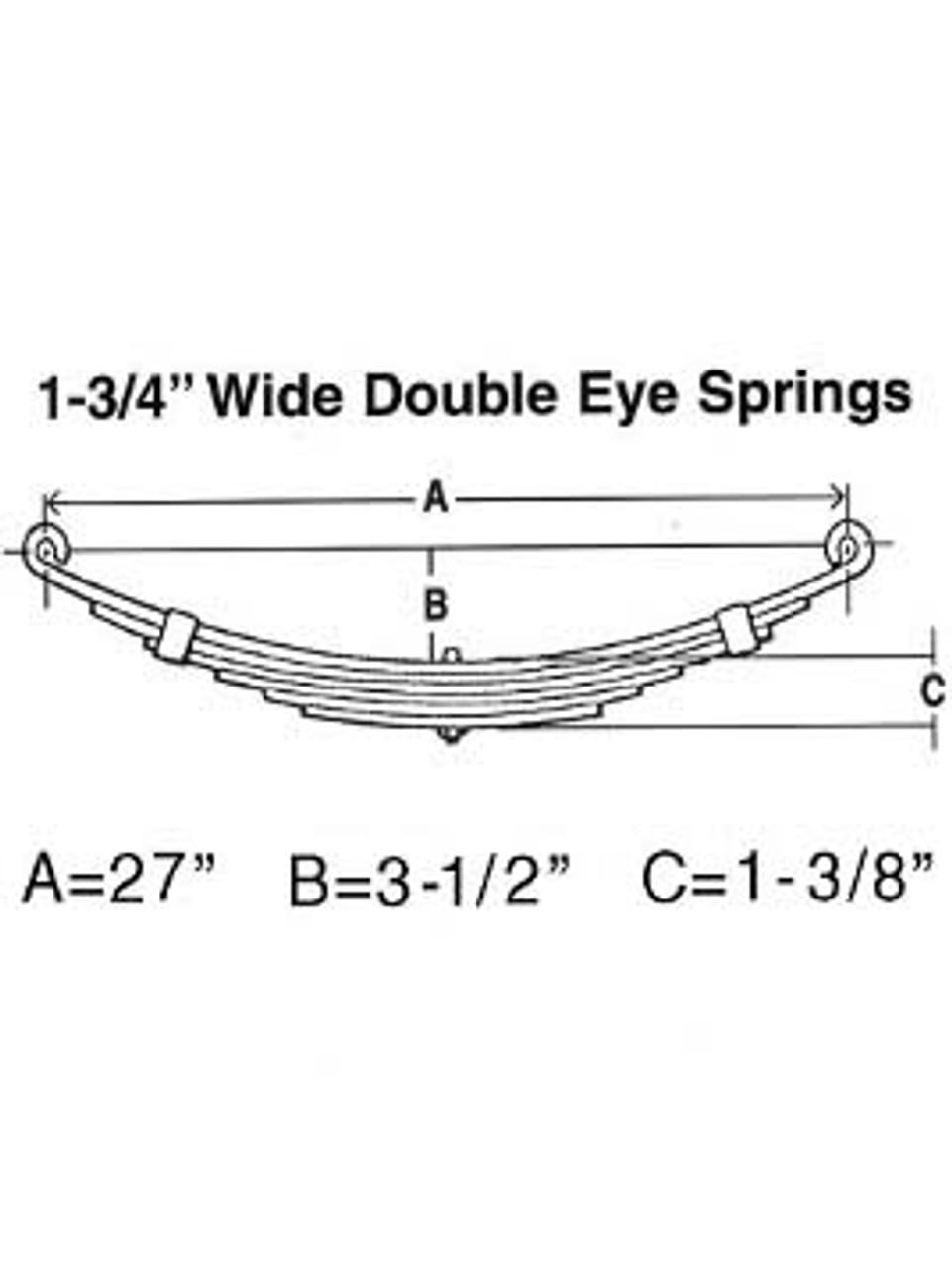 """33613 --- Leaf Spring - 1-3/4"""" Wide Double Eye - 4.2k per pair"""