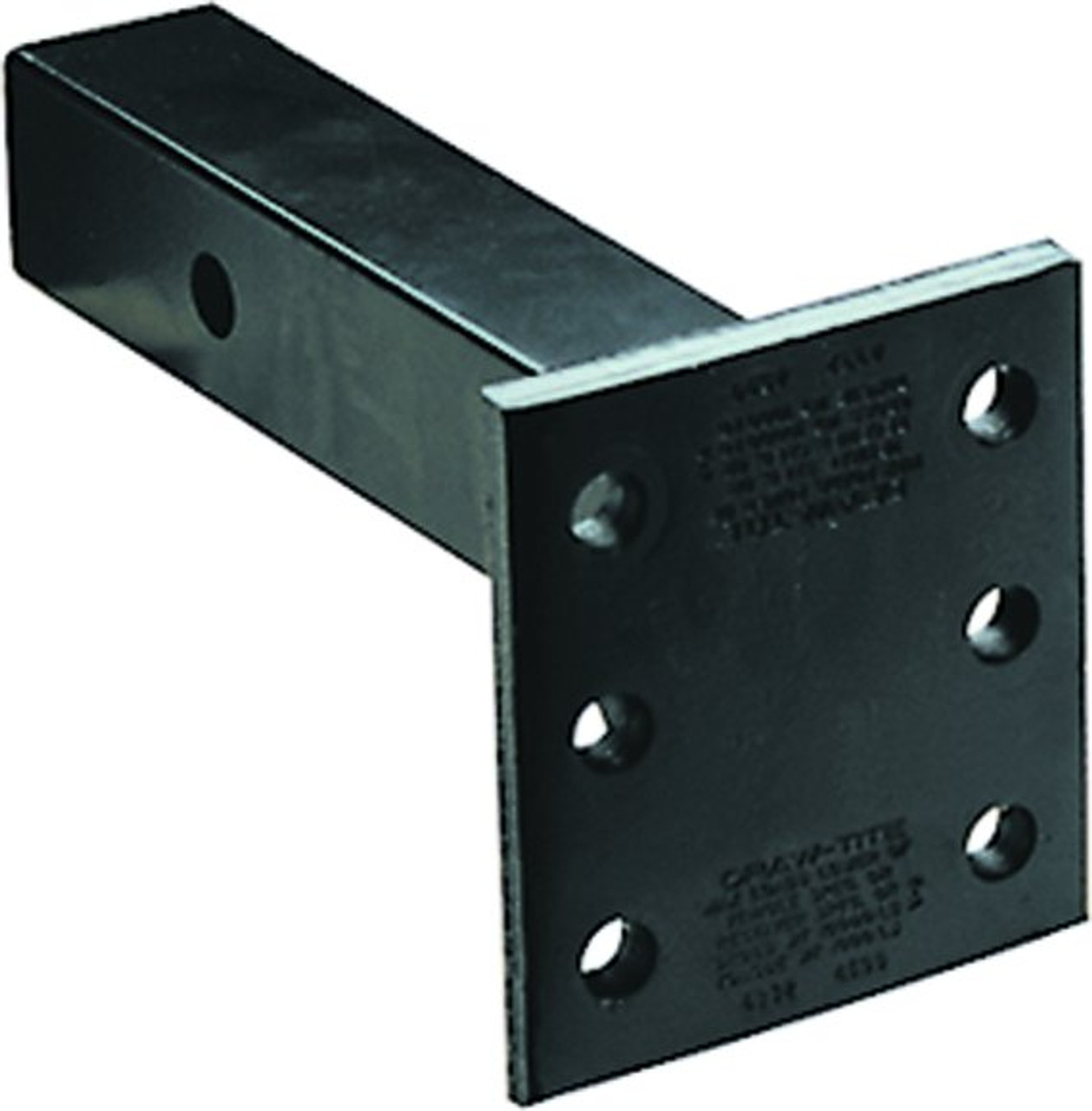 """6572 --- 2"""" Receiver Mounted Pintle Hook Adapter w/Long Shank - 6 Holes - 14,000 lb Capacity"""