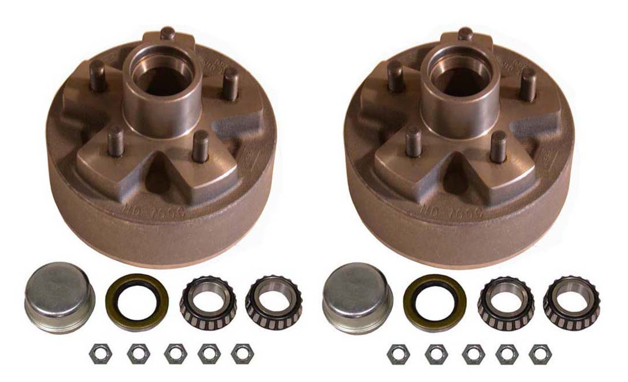 """BT5-49HDH --- 5 on 4-1/2"""" Hub and Drum Assembly for 7"""" Hydraulic Brake - Pair"""