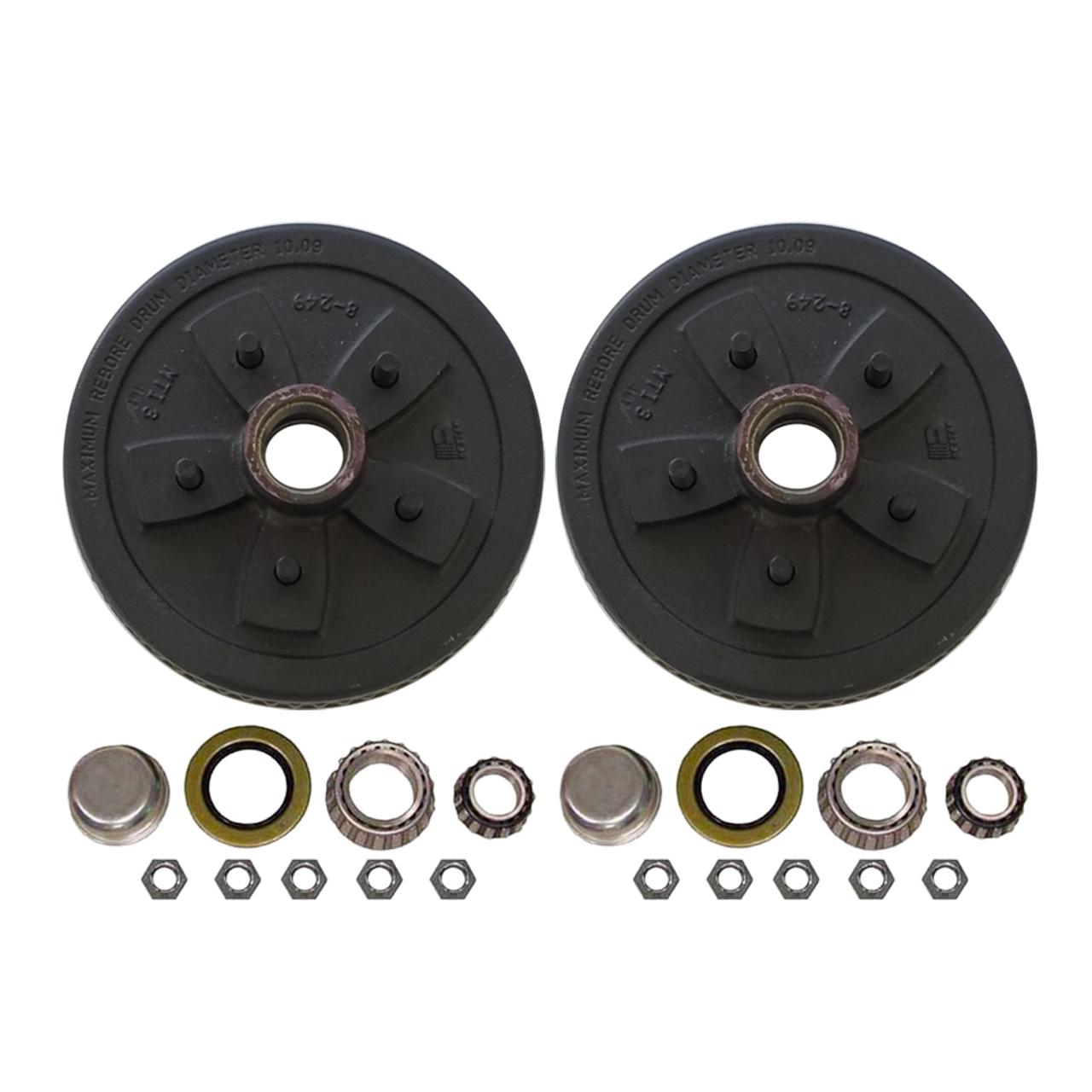 """550UHI-HD --- 5 on 5"""" Hub and Drum Assembly for 10"""" Brakes - Pair"""
