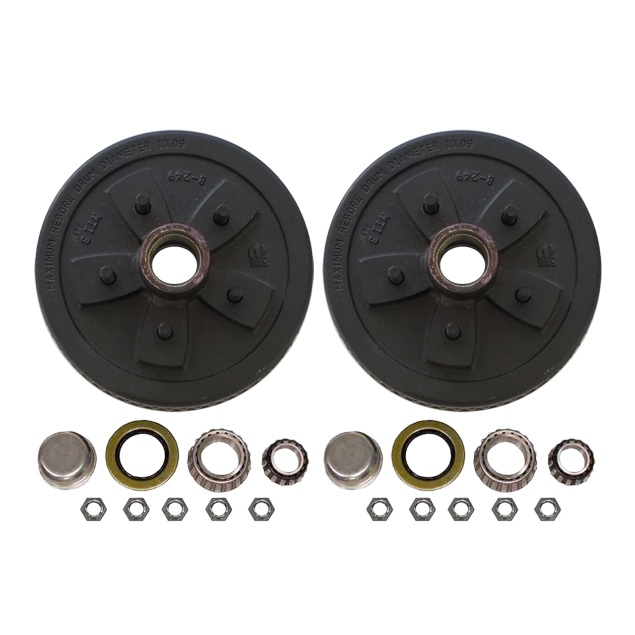 """555UHI-HD --- 5 on 5-1/2"""" Hub and Drum Assembly for 10"""" Brakes - Pair"""