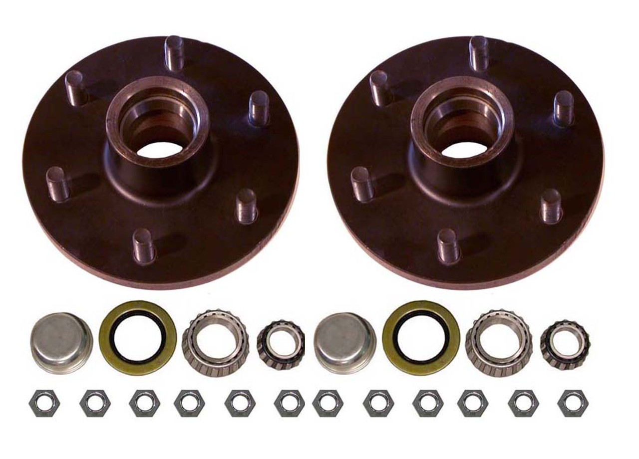 "655UHI --- 6 on 5-1/2"" Hub Assembly - Pair - 3,500 lb"