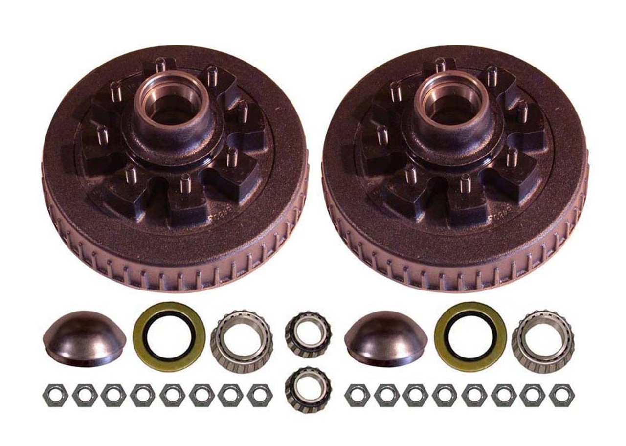 """42865AHD --- 8 on 6-1/2"""" Hub and Drum Assembly - Pair - 7,000 lb"""