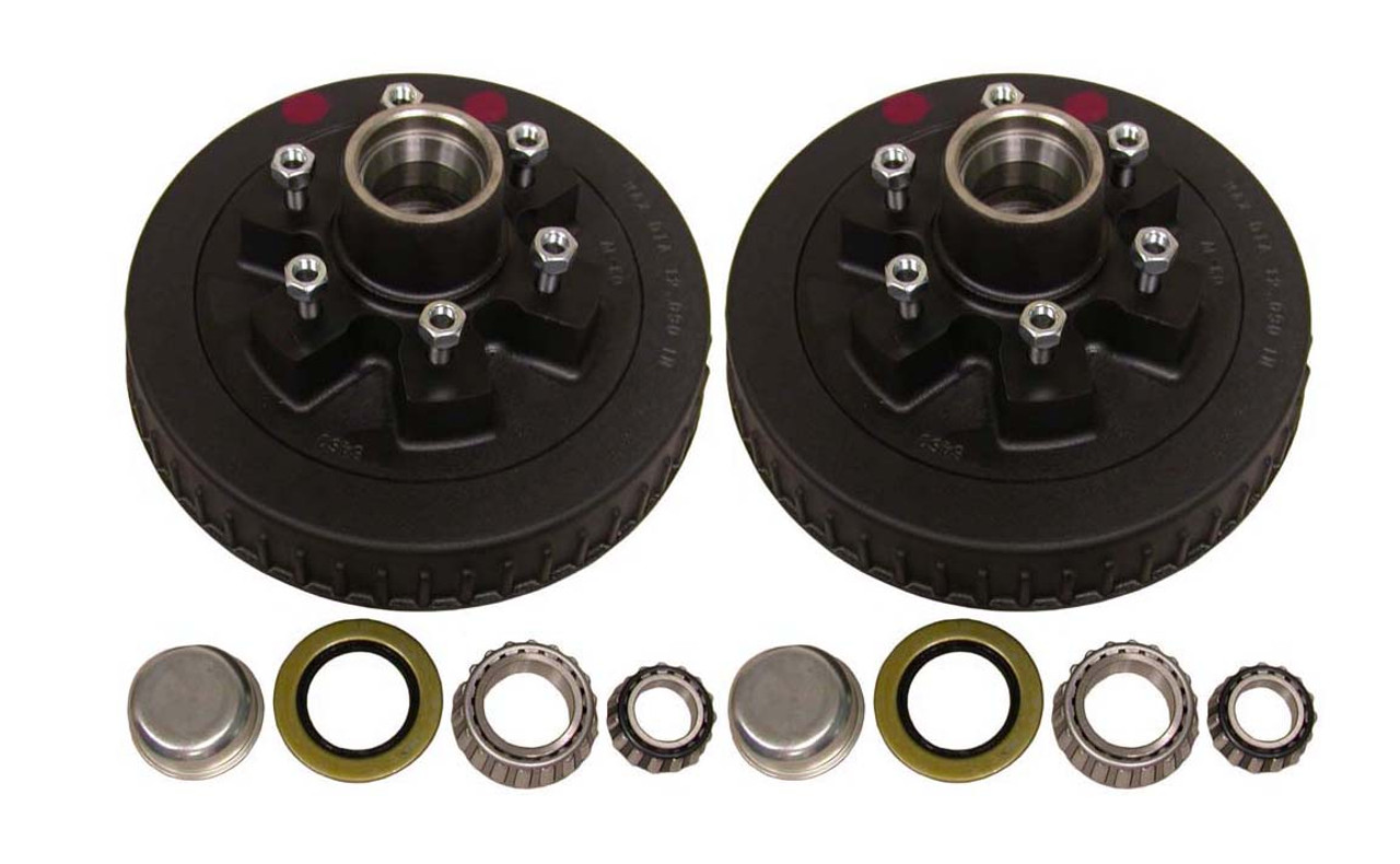 "42655HD --- 6 on 5-1/2"" Hub and Drum Assembly - 6,000 lb - Pair"
