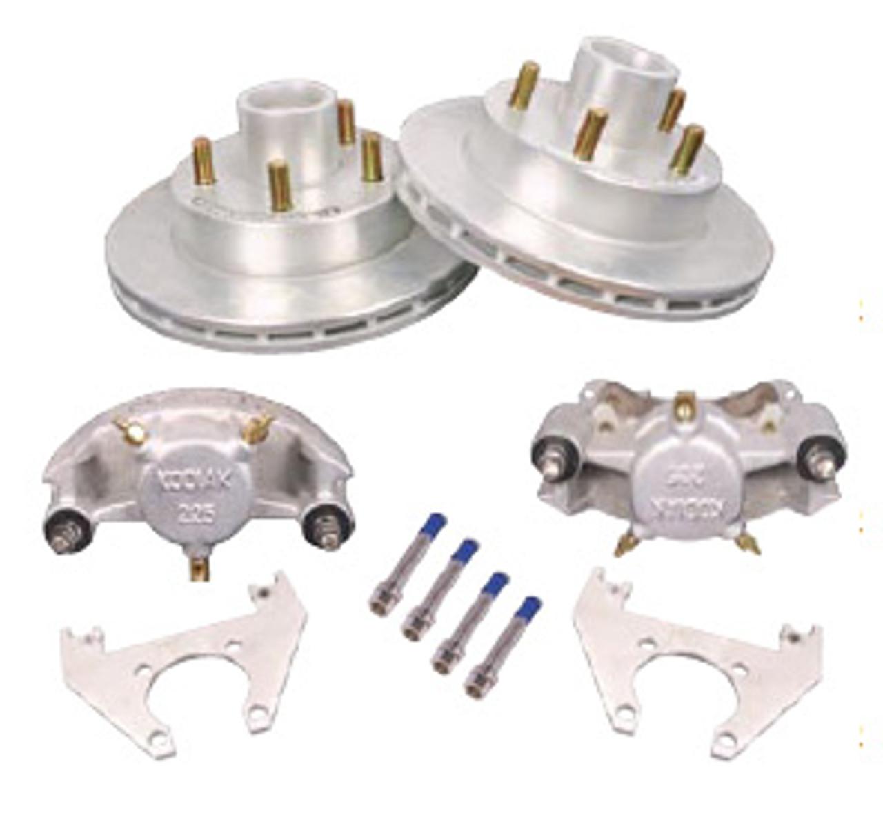 """2/HRCM-10-KIT --- 10"""" Kodiak Disc Brake Kit for 3,500 lb axles - 5 on 4-1/2"""" - Pair"""