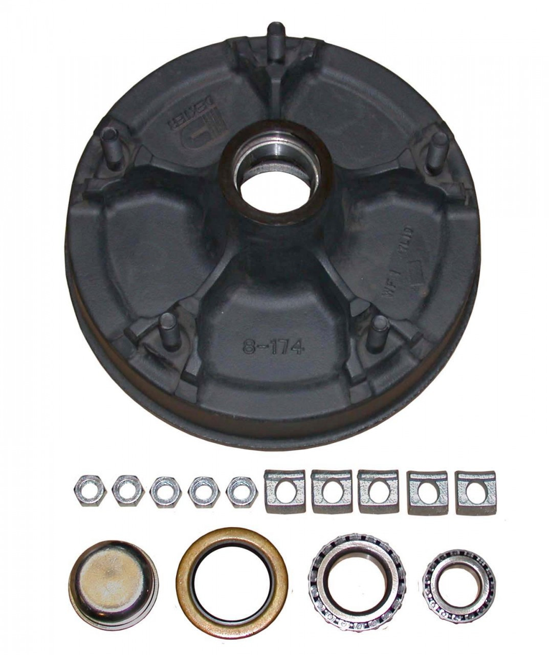 """1-14542HD --- 5 on 9-7/8"""" Demountable Hub and Drum Assembly - 6,000 lb - Half Pair"""