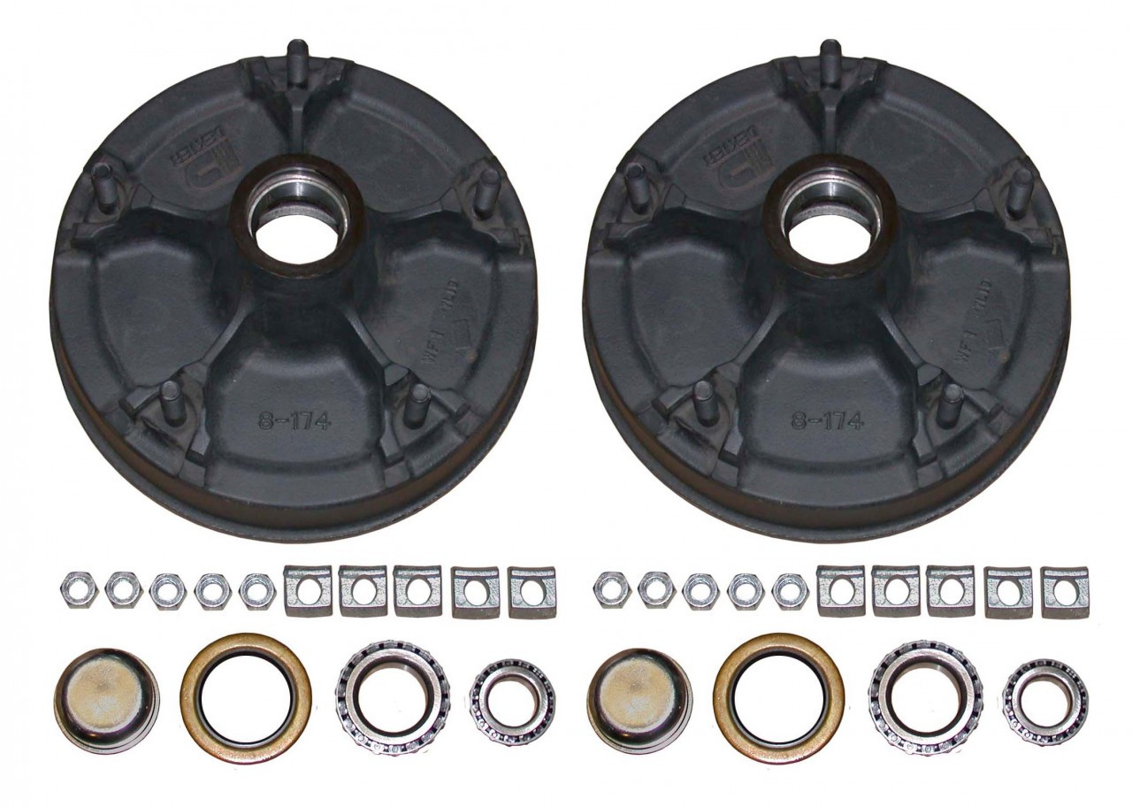 "145AHD --- 5 on 9-7/8"" Demountable Hub and Drum Assembly - 7,000 lb - Pair"