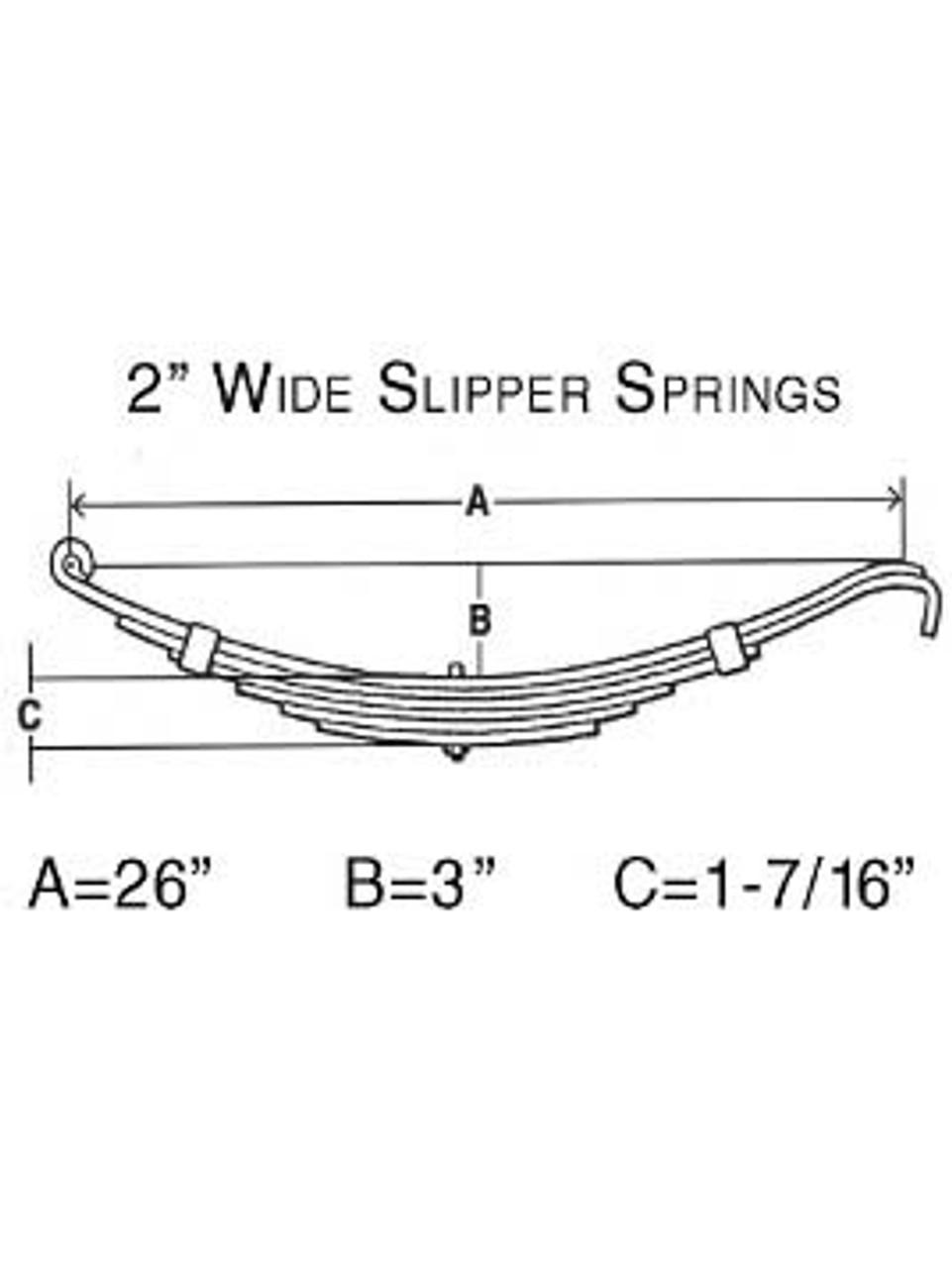 "1203T3 --- Leaf Spring - 2"" Wide Slipper Spring - 7k per pair"