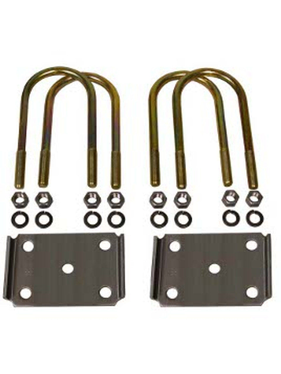 """357-352 --- 3-1/2"""" U-Bolts and Axle Plates for 2"""" Wide Springs"""